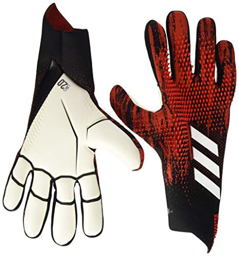 adidas PRED GL PRO Soccer Gloves, Black/Active red, 11